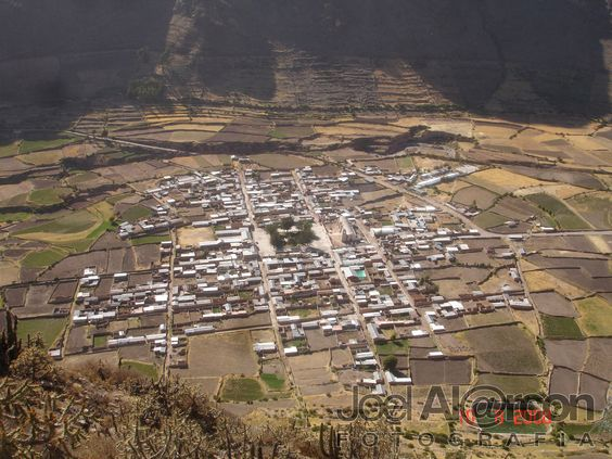 Huambo vista a vuelo de pajaro