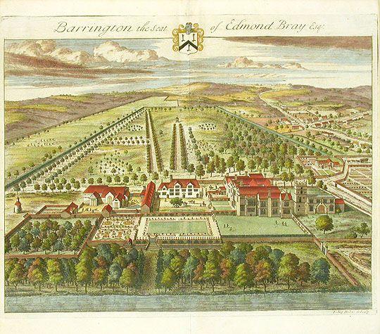 Antique Prints of Architecture by Johannes Kip from Britannia Illustrata
