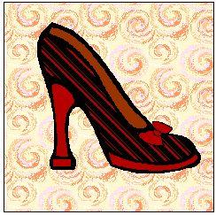 A Free Applique Pattern Shoe Quilt Block