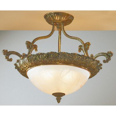 Classic Lighting Montego Bay 3 Light Semi-Flush Mount Finish: Roman Bronze