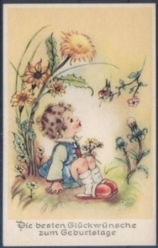 Geburtstagskarte ( K00823 ), Briefmarken-Versand-Welt - Briefmarken, Ansichtskarten und mehr