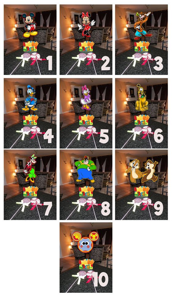 Diy quot small mickey mouse birthday party centerpieces