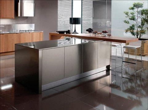 Hermosas cocinas en acero inoxidable decoracion pinterest for Accesorios para cocina en acero inoxidable