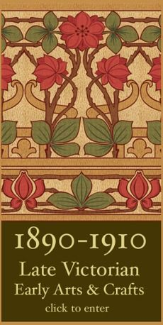 Victorian arts crafts and arts and crafts on pinterest - Late victorian wallpaper ...