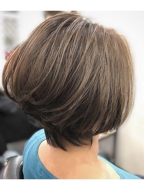 米倉涼子風 ショートボブ L028882371 ブリーズ Breaze のヘア