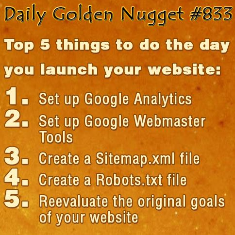 top 5 things to do the day you launch your website 1 set up google
