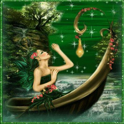 green fantasy fairy