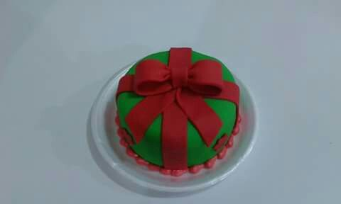 Mini bolo natal