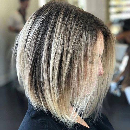 18 Mittlere Lange Abgewinkelte Bob Frisuren Besten Frisur Ideen Long Bob Hairstyles Long Bob Haircuts Hair Styles