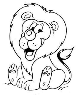 Animais Em Libras Leao Para Colorir Leao Desenho E Paginas Para