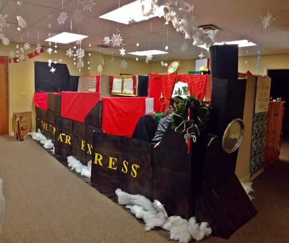 The polar express, Cubicles and Train from on Pinterest ~ 115046_Ideas For Christmas Decorations In Office Cubicle