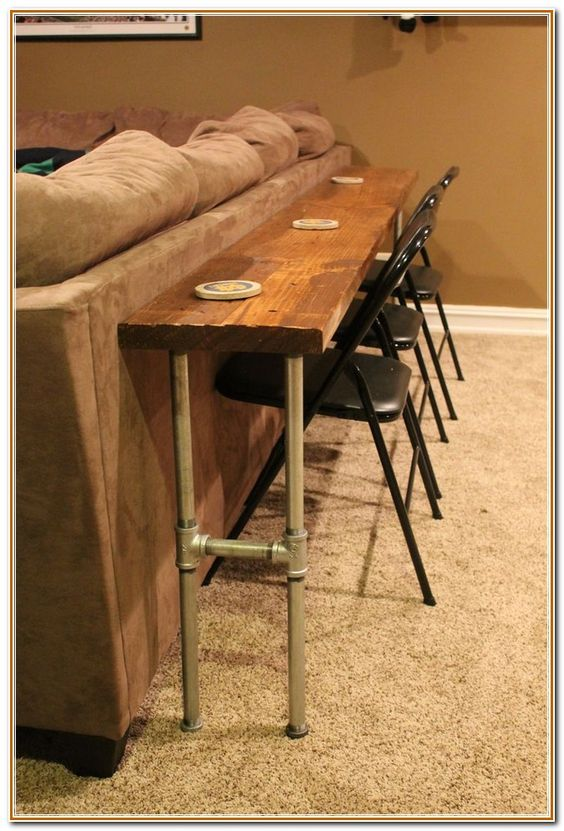 Bar Table Behind Couch Google Search Rustic Glam