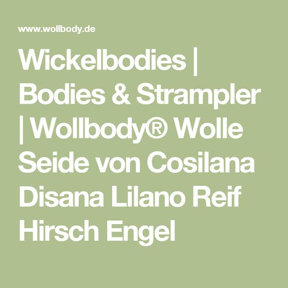 Lilano Wickelbody Baby-Wickel-Body Wolle-Seide by Wollbody/®