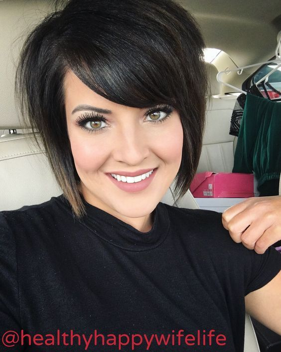 Short Hair Aline Haircut Bangs Makeup Haircut For Thick Hair Thick Hair Styles Short Aline Haircuts
