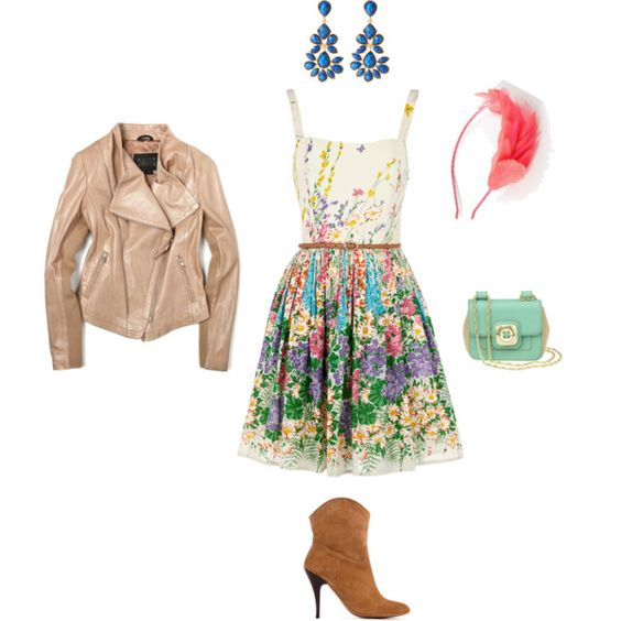 hello spring! take your summer dresses, add boots and a leather/suede jacket for the perfect spring outfit.