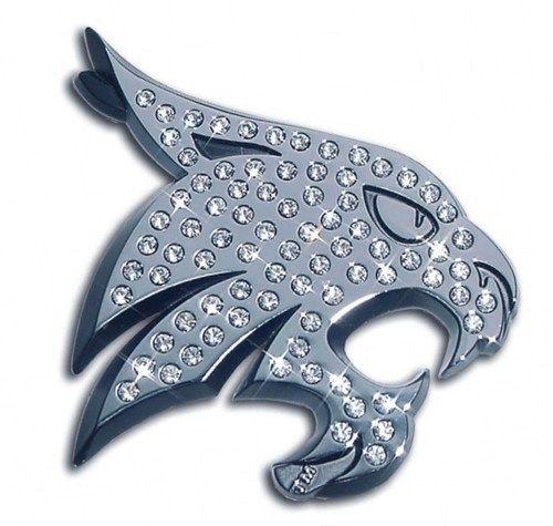 Texas State University Bobcat Crystal Chrome Emblem