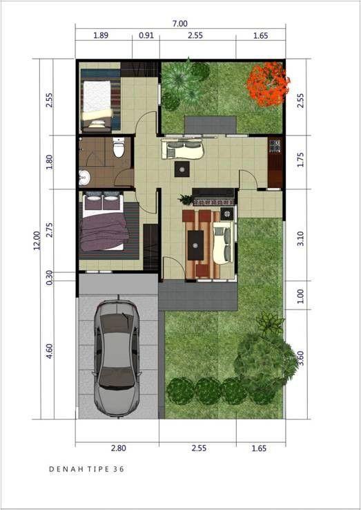 Ini 5 Denah Ukuran Rumah Minimalis Type 36 Terbaik Untuk Bujangan Dan Keluarga Baru Tata Letak Rumah Desain Rumah Rumah