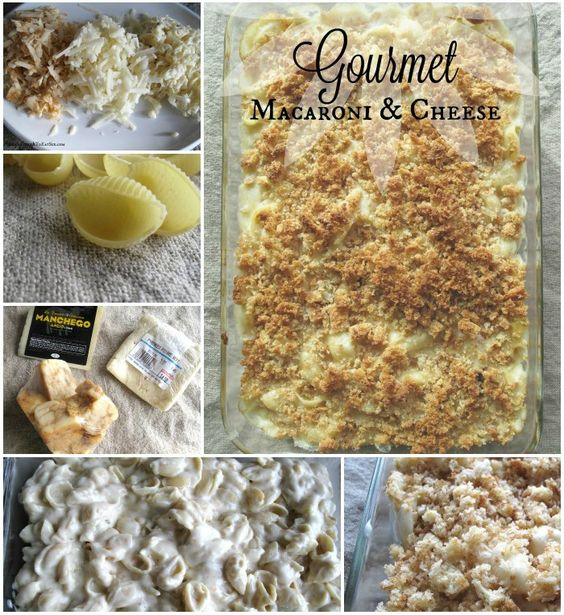 This delicious, creamy and cheesy casserole is perfect any time of the year! This Gourmet Macaroni & Cheese was prepared in homage to the holiday movie Home Alone, but is a much better version than Kevin's microwave dish. (But hey, he did the best he could while being home alone!) This recipe has a blend of three cheeses, a crunchy breadcrumb topping and is made with pasta shells that hold on to every gooey bit of the sauce.