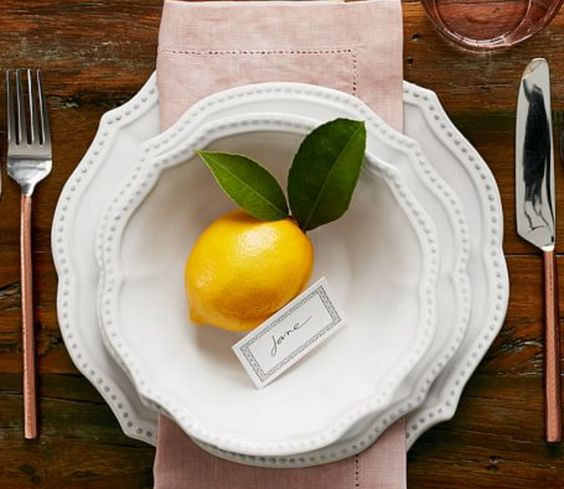 White on White, Dotted, Scalloped Place Setting