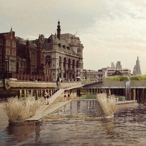 Swimming pools for London's River Thames<br /> by Studio Octopi