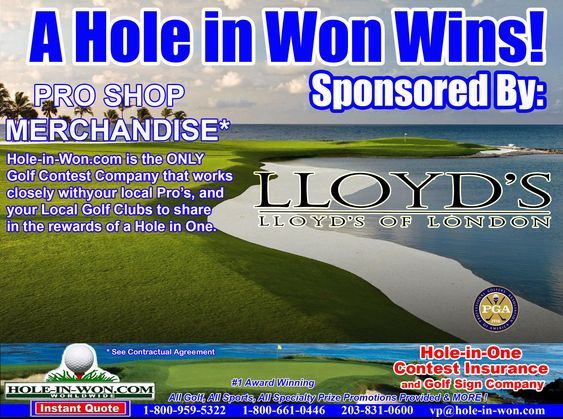 The Original Hole In One Insurance On The Internet 203 831 0600