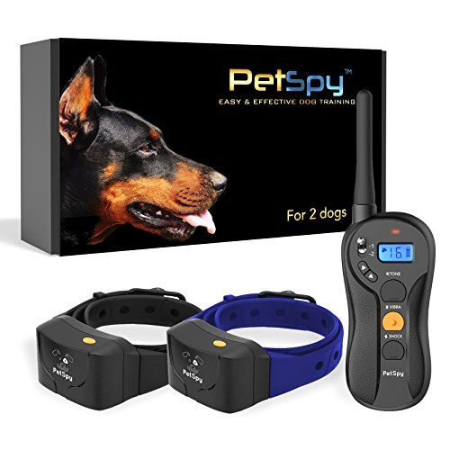 Petspy P620b Dog Training Shock Collar For 2 Dogs With Vibration