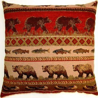 Bear Country 26 x 26 Decorative Pillows by Creative Home Furnishings from Kellsson Home Linens.