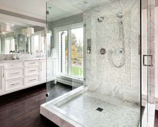 Bathroom design ideas wood floors with dark cabinets for Bathroom ideas dark floor
