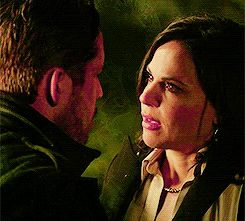 Outlaw queen! That breathy thing he did before kissing her back - I legit lost it! - Once Upon a Time