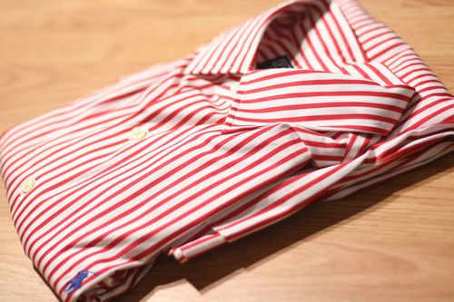 Red and White Stripped Ralph Lauren Polo on eBay    #Polo #RalphLauren #mensfashion #ButtonUp #Shirt