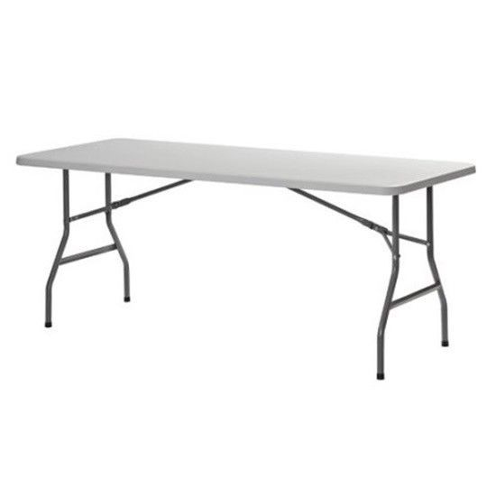 Sandusky 72 X 30 White Plastic Folding Table Perfect For Events