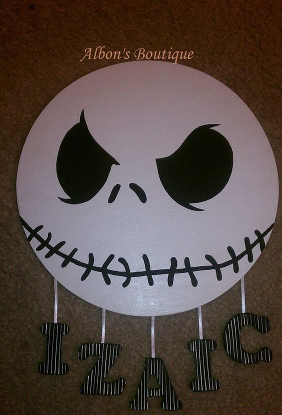 Jack Skellington Name Sign  Personalized with your child's name! Order today!