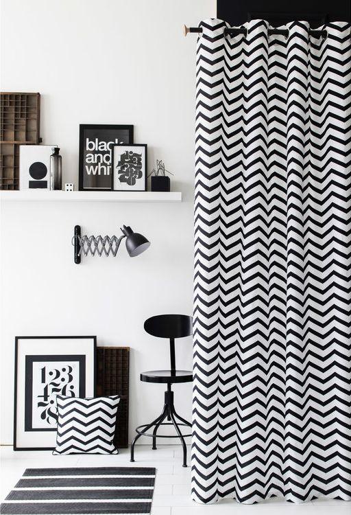 Deco Noir Et Blanc Graphique Rideau Noir Et Blanc Rideaux Noirs Deco Noir Et Blanc