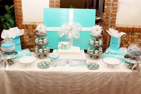 Tiffany and co inspired dessert table
