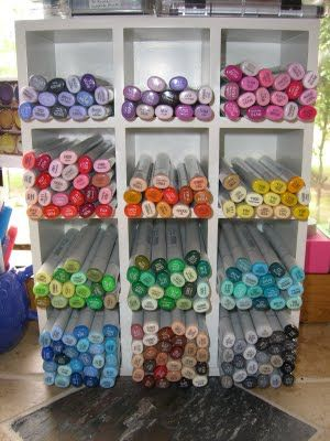 #copic marker storage idea