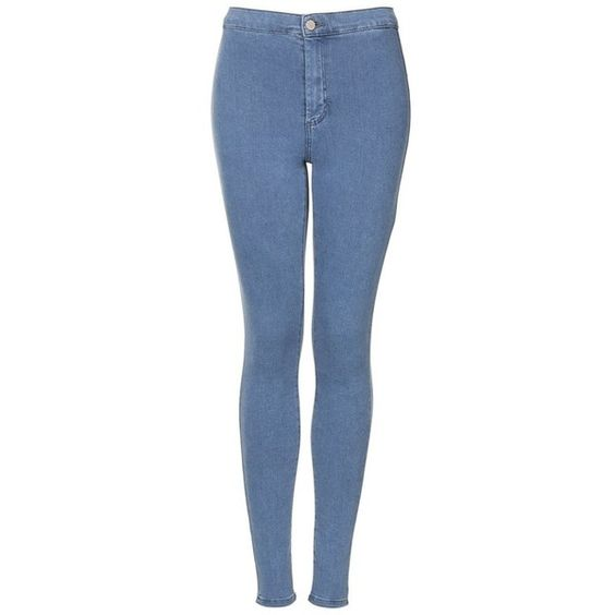 Topshop Moto 'Joni' High Rise Skinny Jeans ($30) ❤ liked on Polyvore featuring jeans, pants, bottoms, calças, pantalones, short skinny jeans, high-waisted jeans, blue jeans, topshop jeans and short jeans
