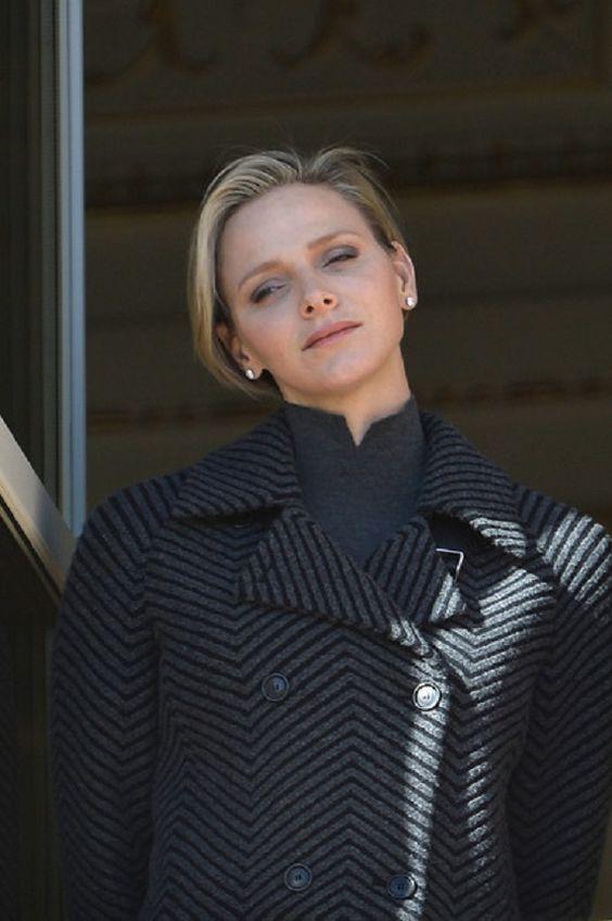 Princess Charlene of Monaco attends the Sainte-Devote ceremony on 26.01.14 in Monaco