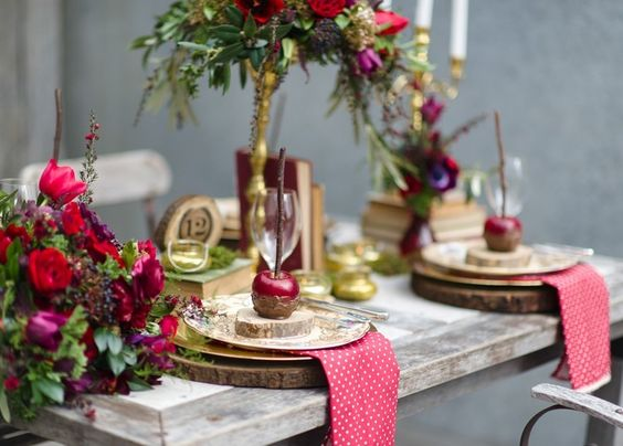 Décoration naturelle avec des pommes – bricolage automne-hiver ...