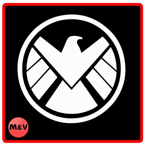 Marvel Agents of Shield logo Stickers X2, Laptop/Xbox/Ps4.