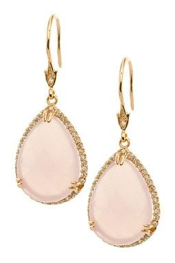 Mother of Pearl Pear Drop Earrings
