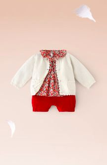 A sweet little ensemble. From French clothing line, Jacadi.