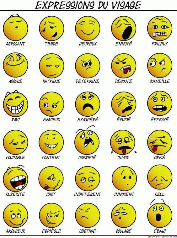 Affiche pour travailler les émotions et les sentiments au premier cycle du…
