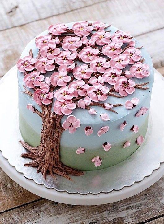 Sind Das Die Schonsten Kuchen Der Welt Schone Kuchen Blumenkuchen Kuchen Und Torten