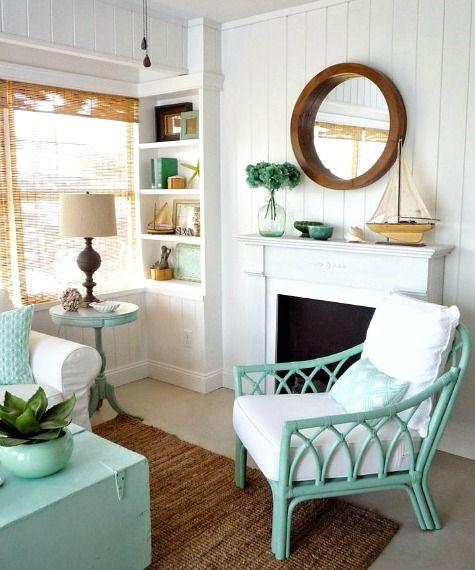 12 Small Coastal Beach Theme Living Room Ideas With Great Style Beach Decor Pinterest