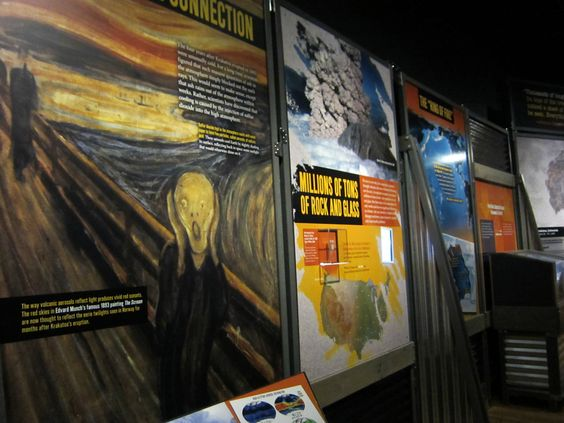 'Nature's Fury: The Science of Natural Disasters' at the American Museum of Natural History--a metereological  explanation for the red sky in Munch's The Scream.