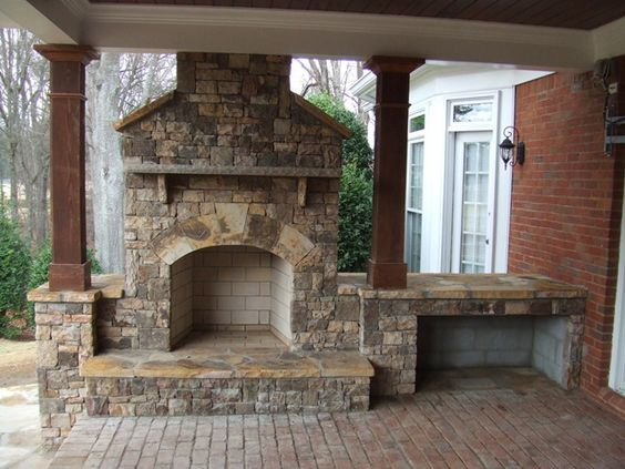 Dry Stacked Stone Fireplace Stacked Stone House My Dream Home Pinterest Stone Fireplaces