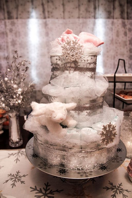 Winter Wonderland Baby Showers ~ Winter wonderland and diaper cakes on pinterest