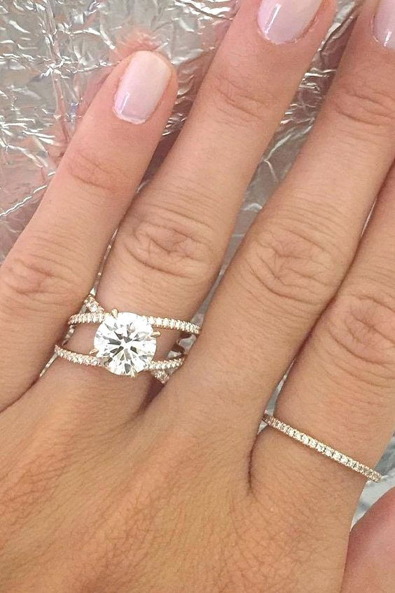 Diamond Engagement Rings Fingers Cincin Perkawinan Tunangan Cincin Tunangan Berlian