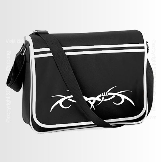 Retro Messenger black/white von Jajis-ART auf DaWanda.com