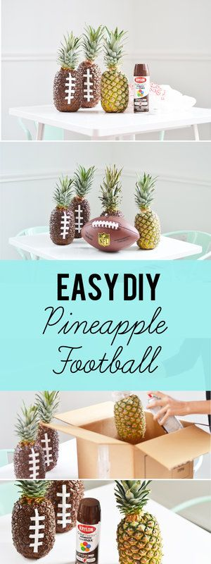 The Cutest Super Bowl Pineapple Football DIY and it's EASY!: